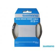 Трос тормоза Shimano, нерж., для шоссе, 1.6x2050мм, с концевиком троса