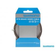 Трос тормоза Shimano, нерж., для MTB, 1.6x2050мм, с концевиком троса